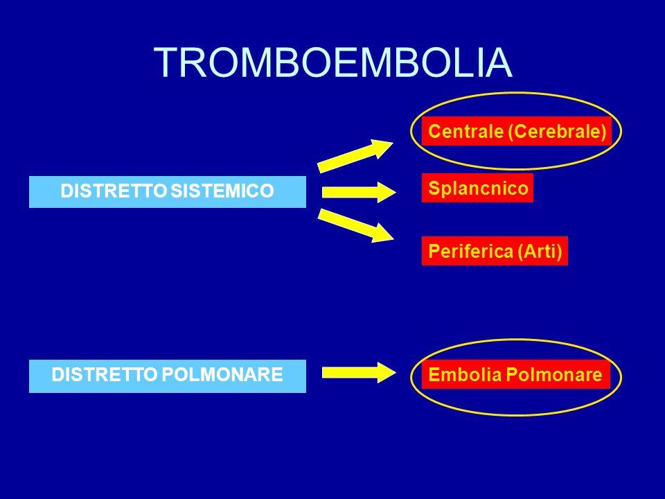 TROMBOEMBOLIA Centrale (Cerebrale) DISTRETTO SISTEMICO Splancnico