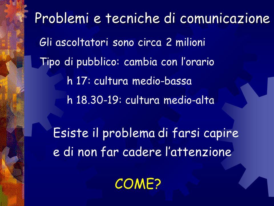 Problemi e tecniche di comunicazione