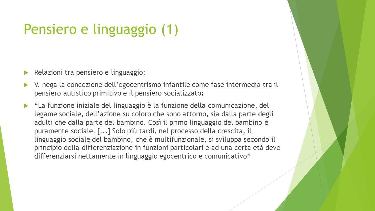 Pensiero e linguaggio (1)