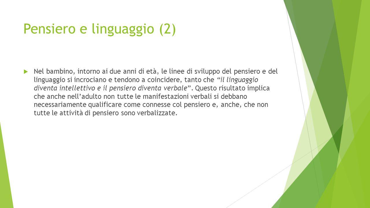 Pensiero e linguaggio (2)