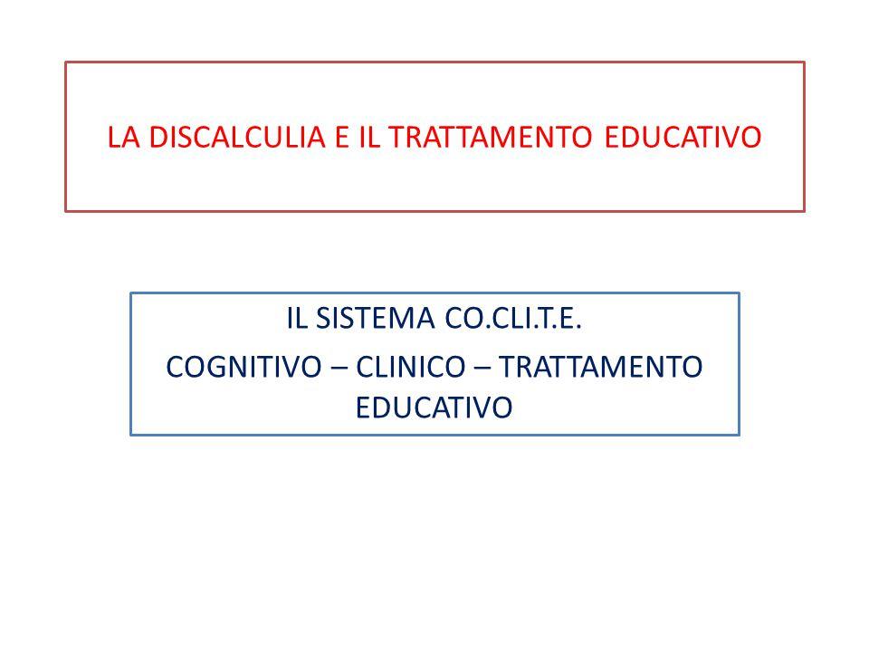 LA DISCALCULIA E IL TRATTAMENTO EDUCATIVO