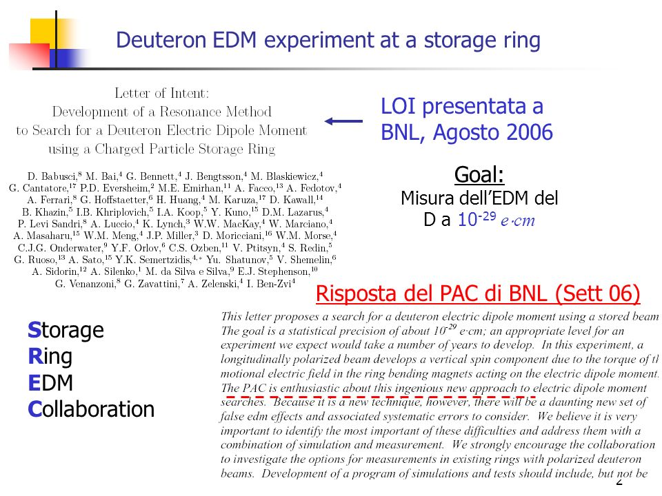 Deuteron EDM experiment at a storage ring