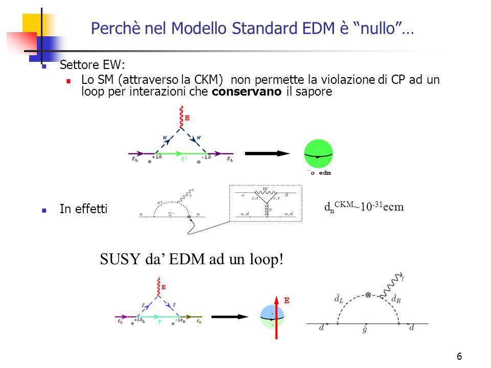 Perchè nel Modello Standard EDM è nullo …