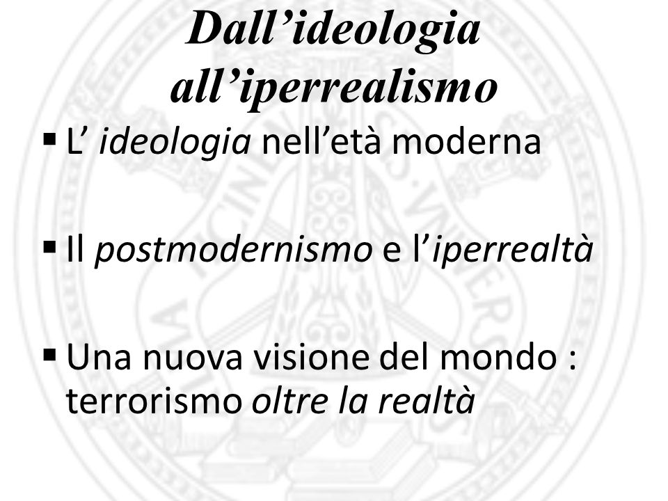 Dall'ideologia all'iperrealismo