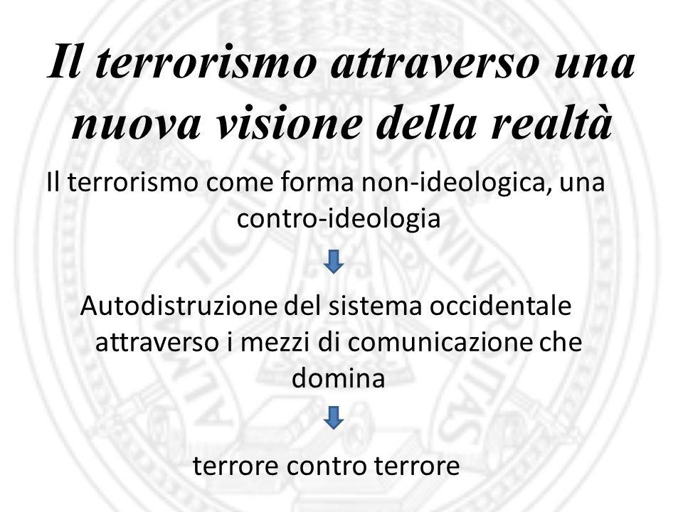 Il terrorismo attraverso una nuova visione della realtà