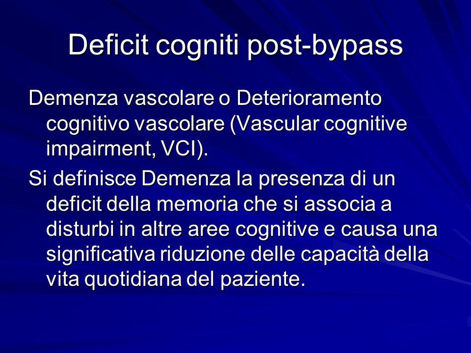 Deficit cogniti post-bypass