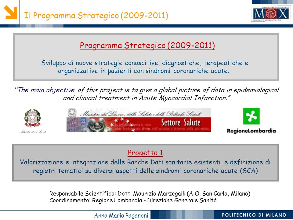 Programma Strategico (2009-2011)