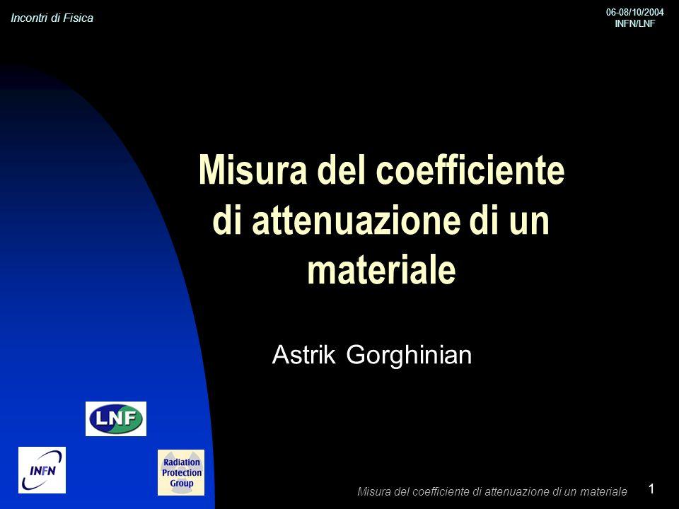 Misura del coefficiente di attenuazione di un materiale