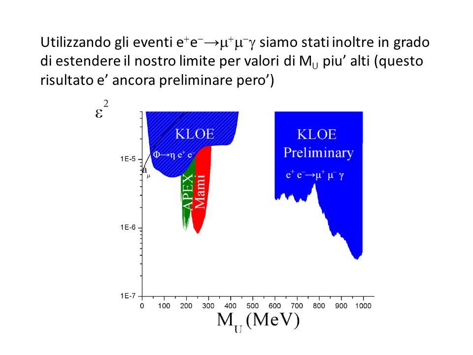 Utilizzando gli eventi ee→ siamo stati inoltre in grado di estendere il nostro limite per valori di MU piu' alti (questo risultato e' ancora preliminare pero')