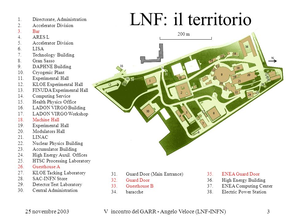 V incontro del GARR - Angelo Veloce (LNF-INFN)