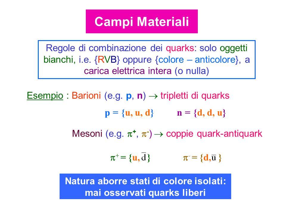 Natura aborre stati di colore isolati: mai osservati quarks liberi