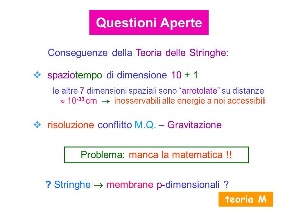 Problema: manca la matematica !!