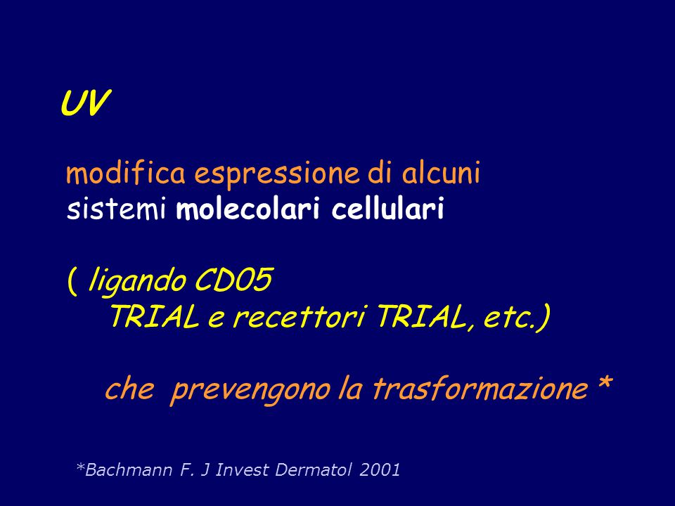 UV sistemi molecolari cellulari ( ligando CD05