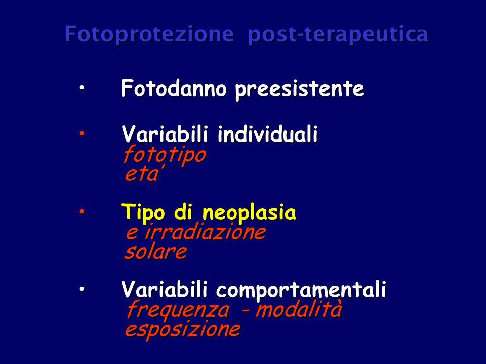 Fotoprotezione post-terapeutica