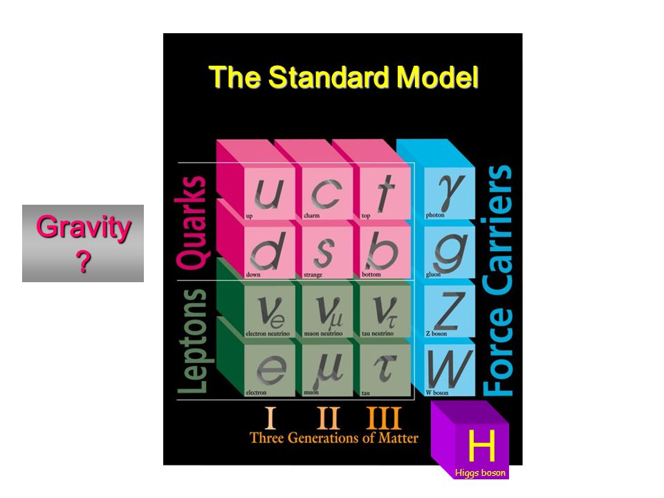The Standard Model Gravity H Higgs boson