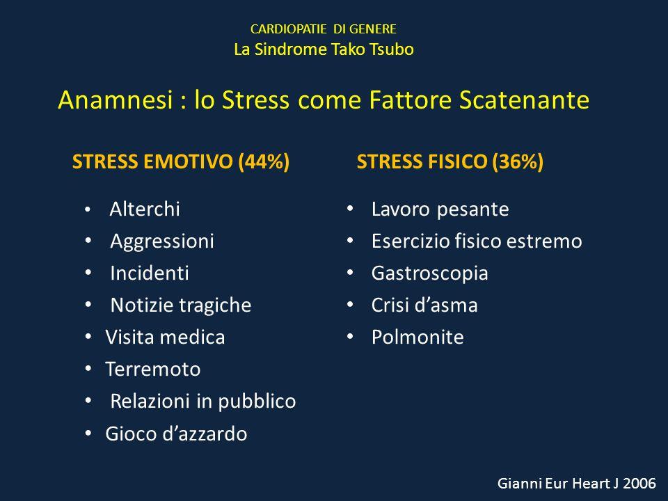 Anamnesi : lo Stress come Fattore Scatenante