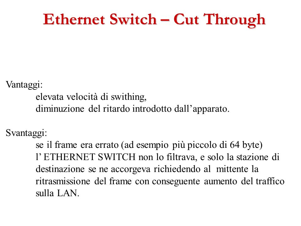 Ethernet Switch – Cut Through