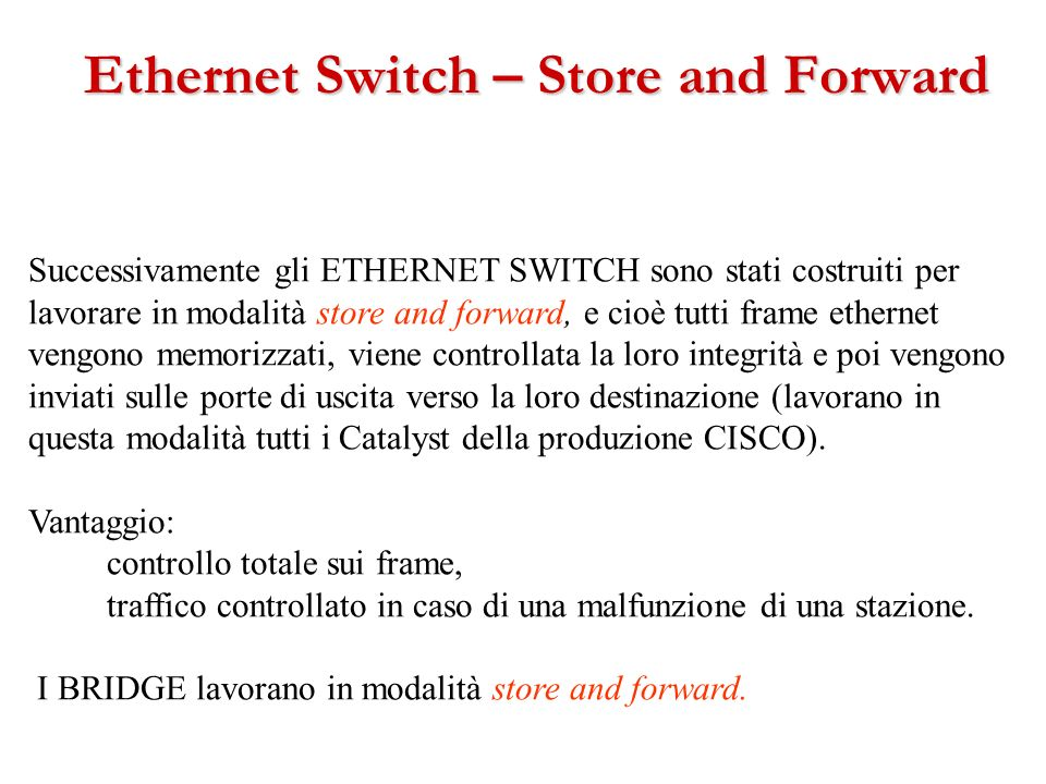 Ethernet Switch – Store and Forward