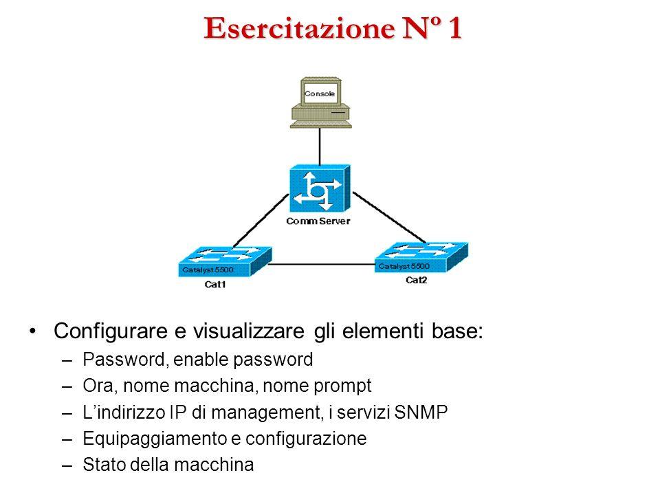 Esercitazione Nº 1 Configurare e visualizzare gli elementi base: