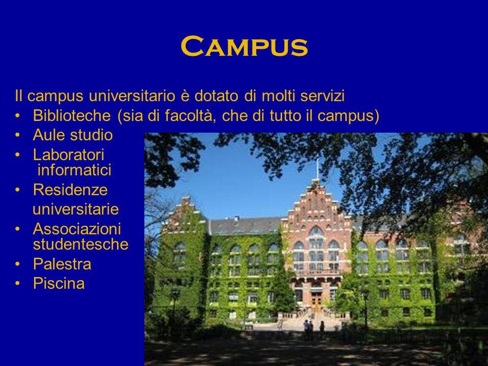 Campus Il campus universitario è dotato di molti servizi