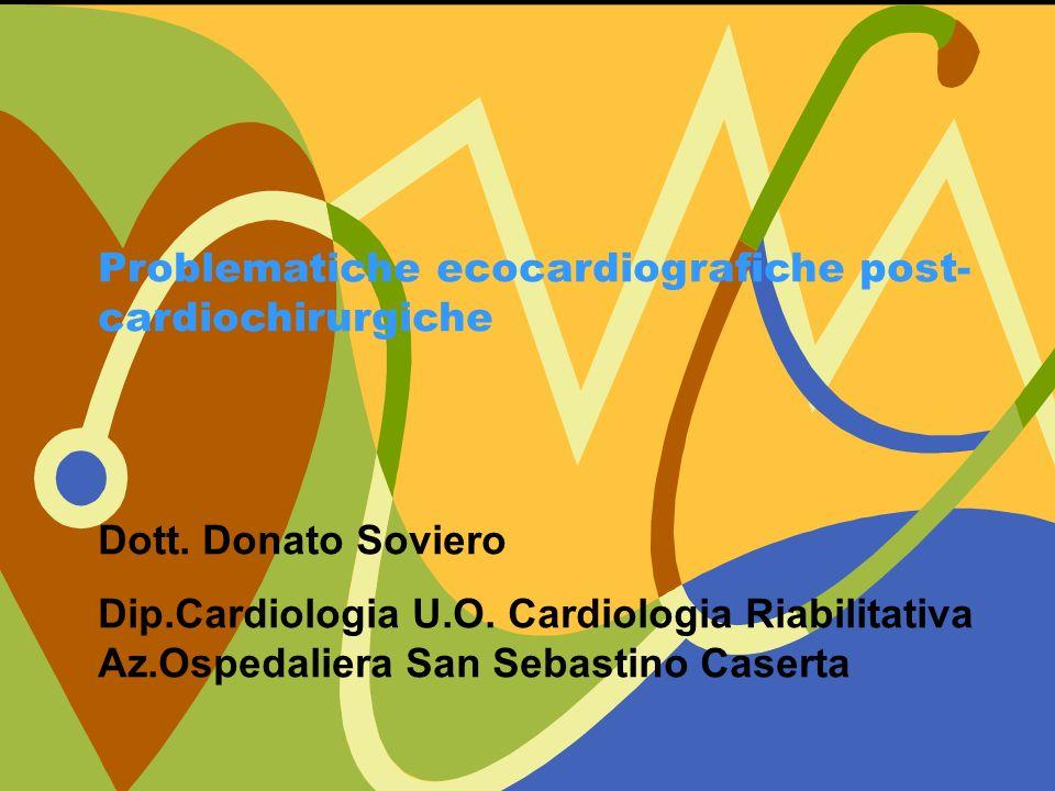 Problematiche ecocardiografiche post-cardiochirurgiche