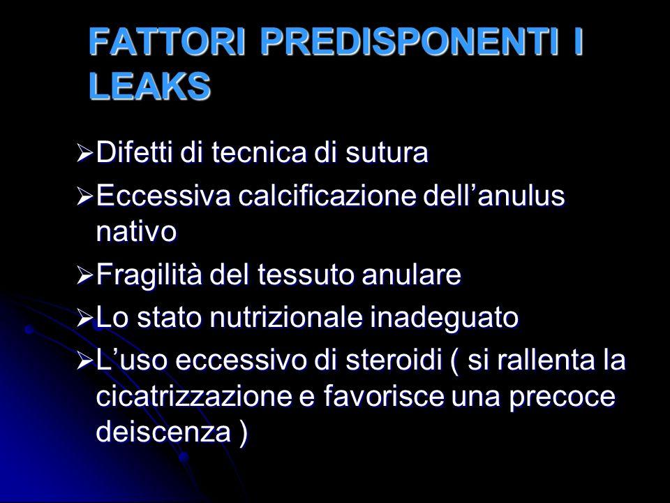 FATTORI PREDISPONENTI I LEAKS