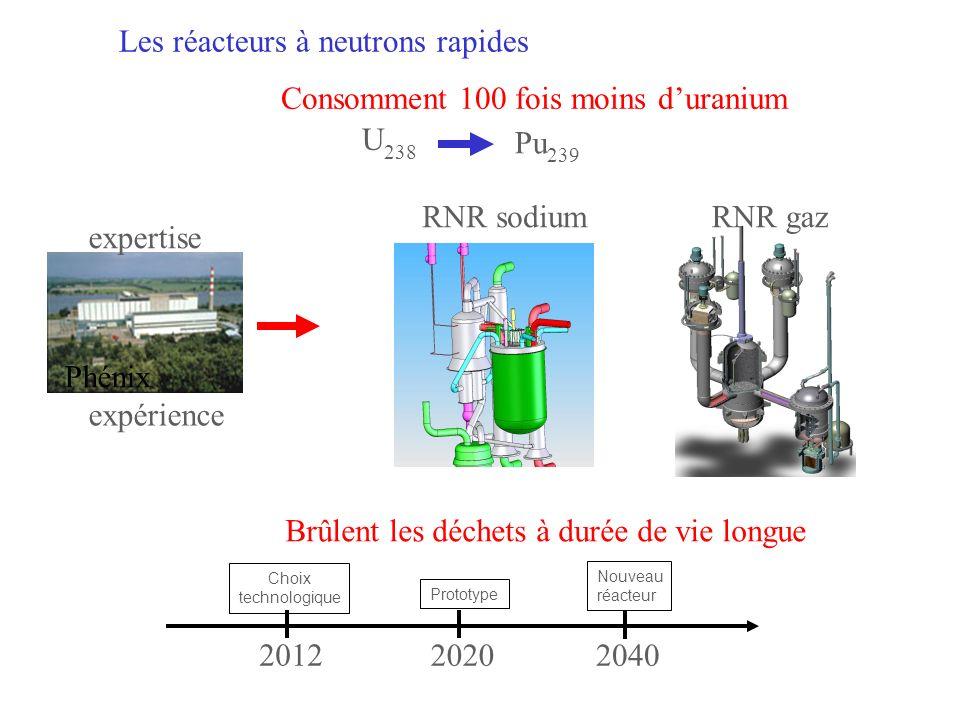 Les réacteurs à neutrons rapides