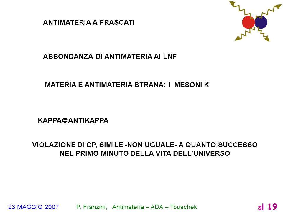 ANTIMATERIA A FRASCATI