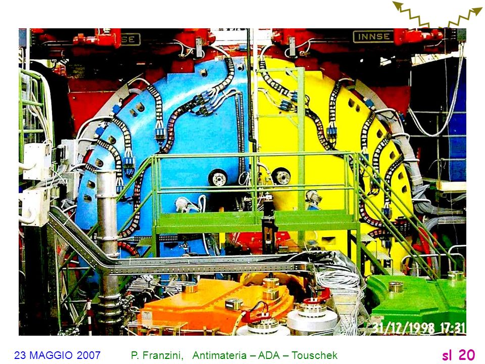 23 MAGGIO 2007 P. Franzini, Antimateria – ADA – Touschek