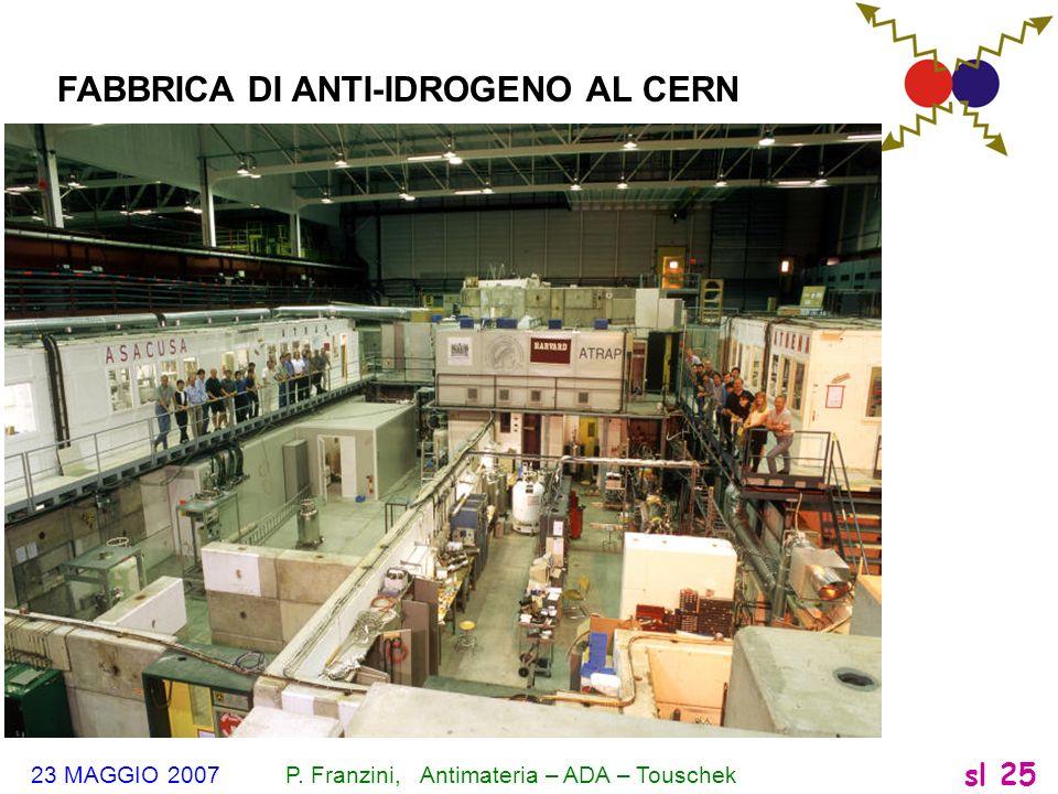 FABBRICA DI ANTI-IDROGENO AL CERN