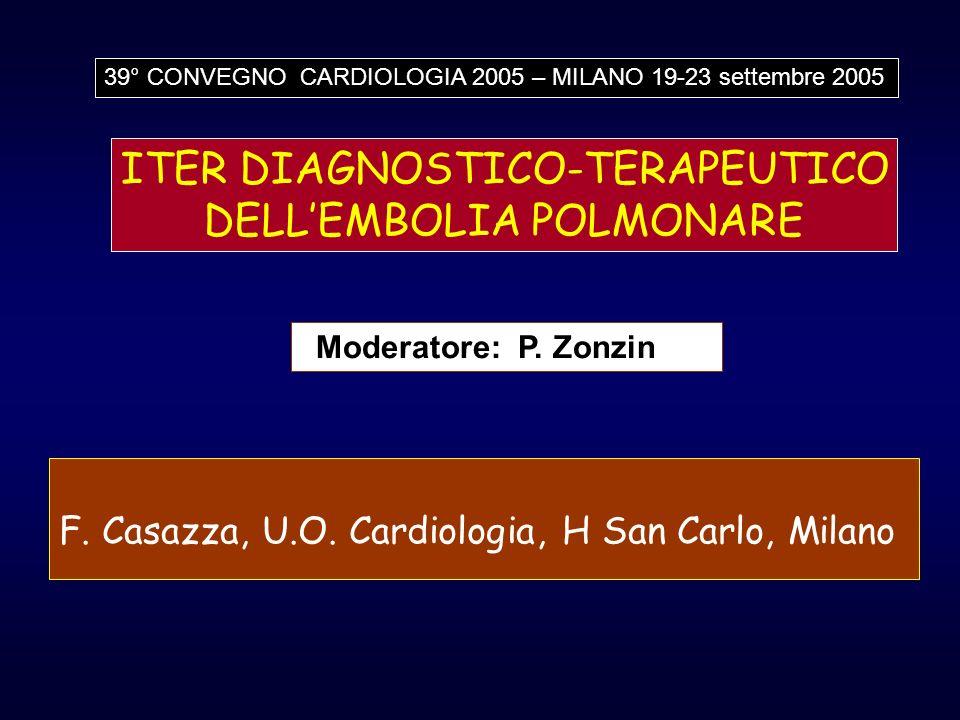 ITER DIAGNOSTICO-TERAPEUTICO DELL'EMBOLIA POLMONARE