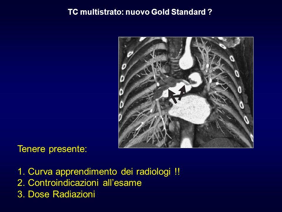 Curva apprendimento dei radiologi !! Controindicazioni all'esame