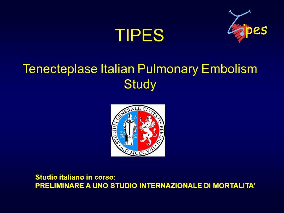 Tenecteplase Italian Pulmonary Embolism Study