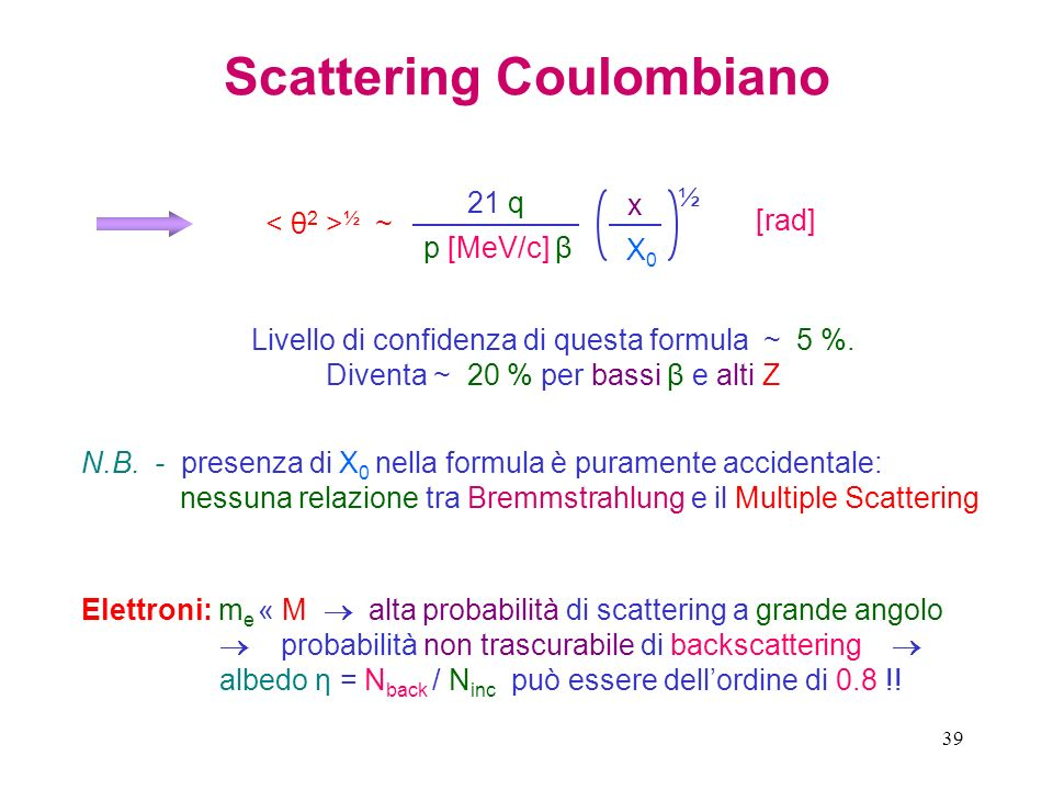 Scattering Coulombiano
