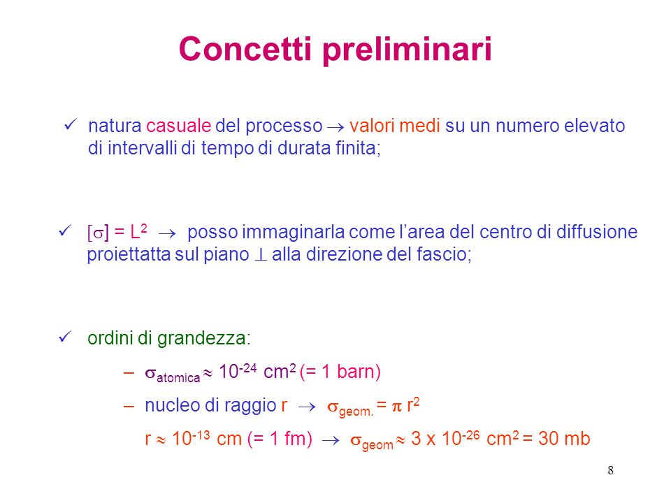 Concetti preliminarinatura casuale del processo  valori medi su un numero elevato di intervalli di tempo di durata finita;