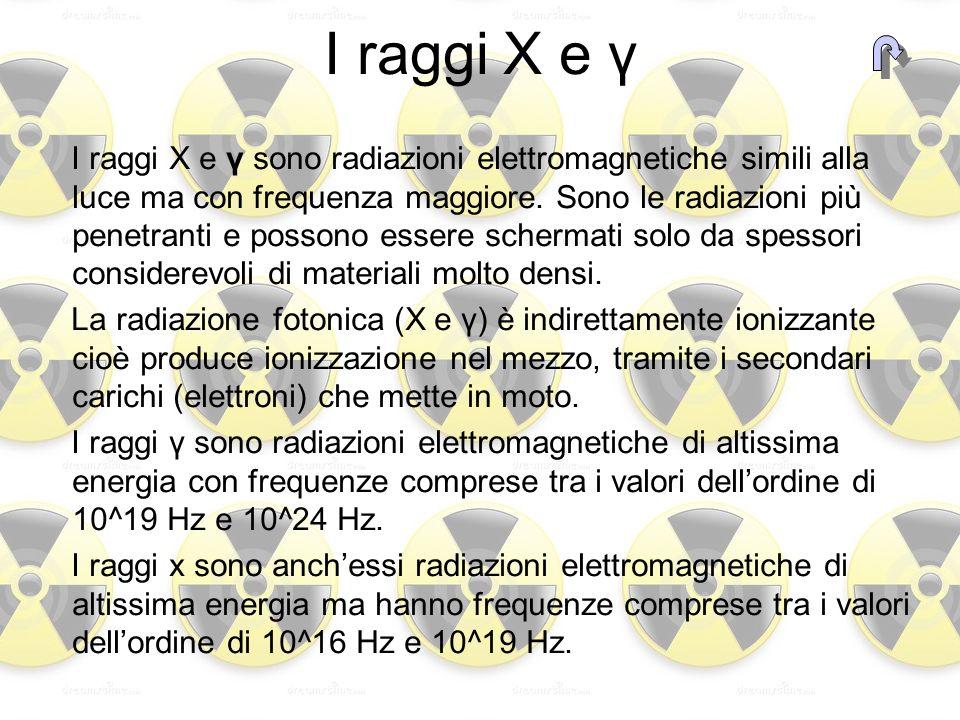 I raggi X e γ