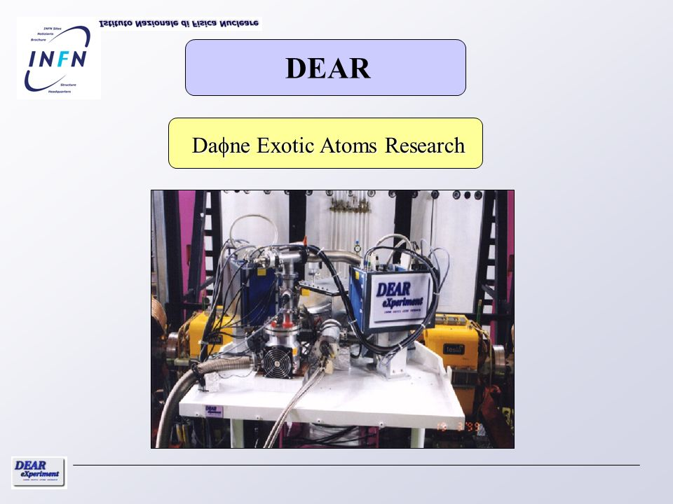 DEAR Dafne Exotic Atoms Research