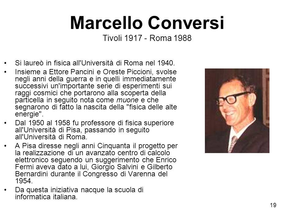 Marcello Conversi Tivoli 1917 - Roma 1988