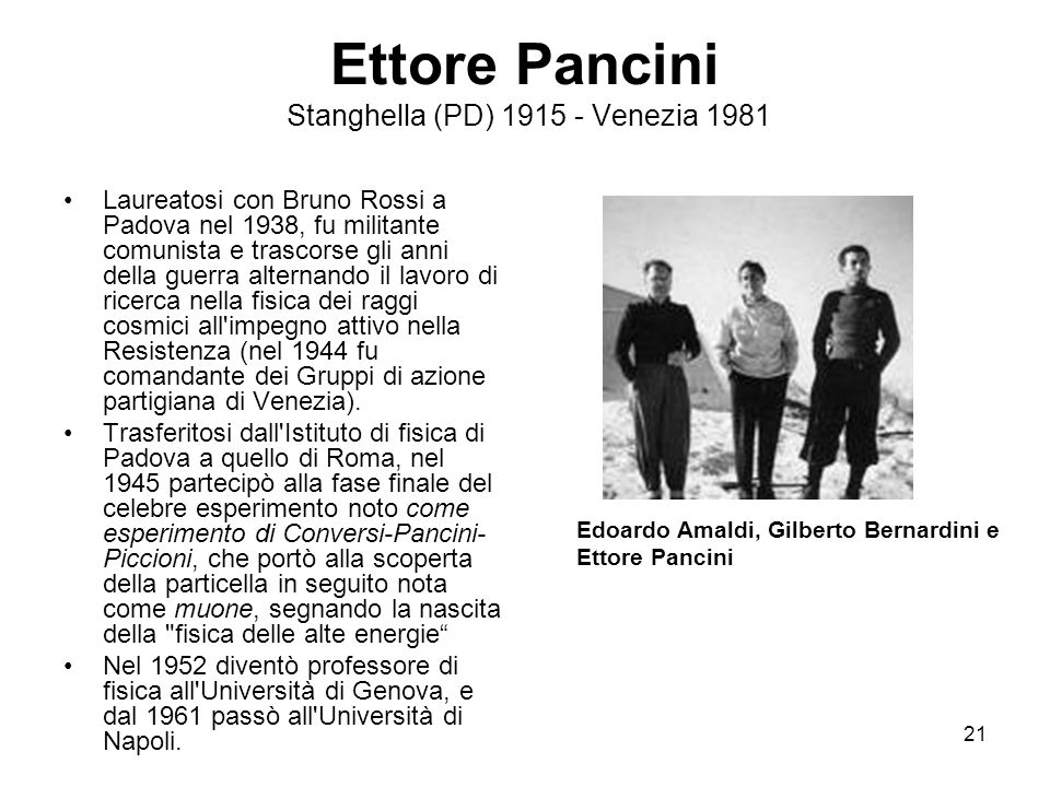 Ettore Pancini Stanghella (PD) 1915 - Venezia 1981