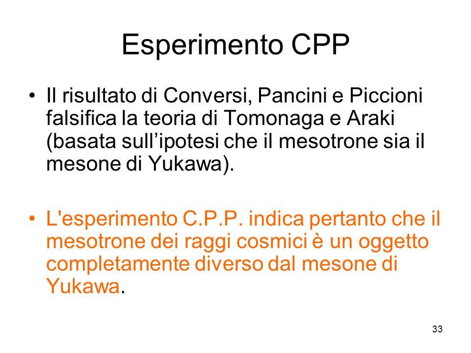 Incontrri di Fisica 1-3 ottobre 2007. Esperimento CPP.