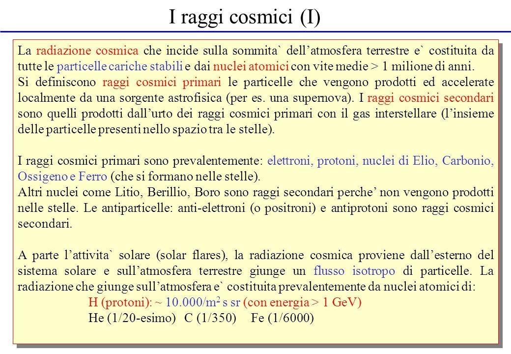 I raggi cosmici (I)