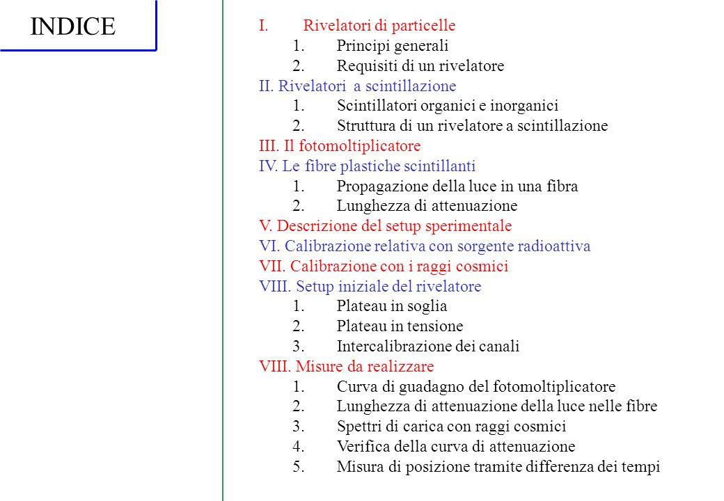 INDICE Rivelatori di particelle Principi generali
