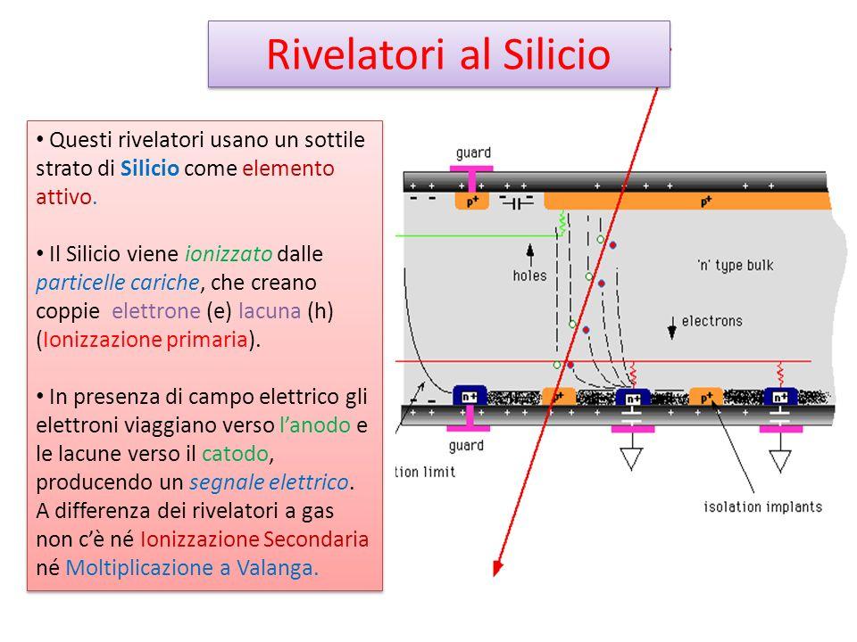 Rivelatori al Silicio Questi rivelatori usano un sottile strato di Silicio come elemento attivo.