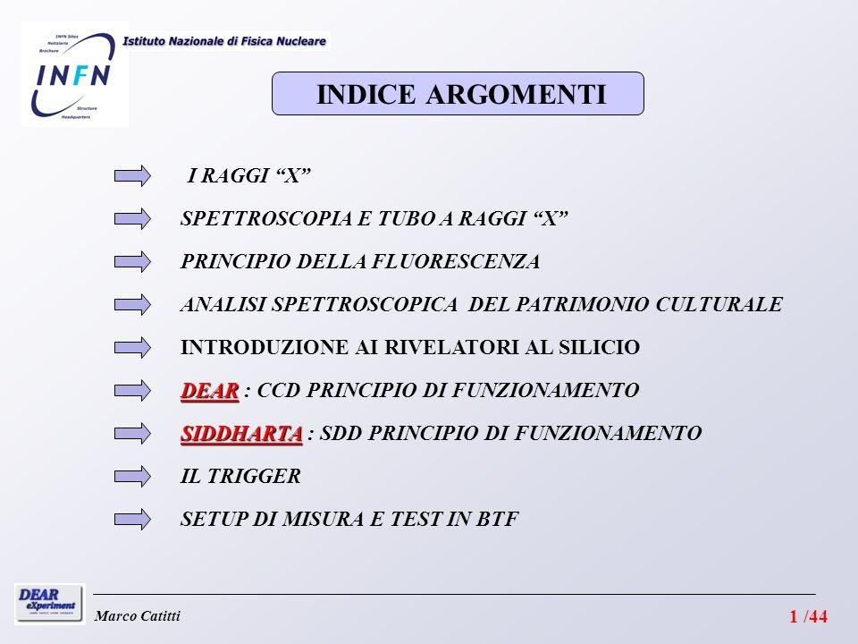 INDICE ARGOMENTI I RAGGI X SPETTROSCOPIA E TUBO A RAGGI X