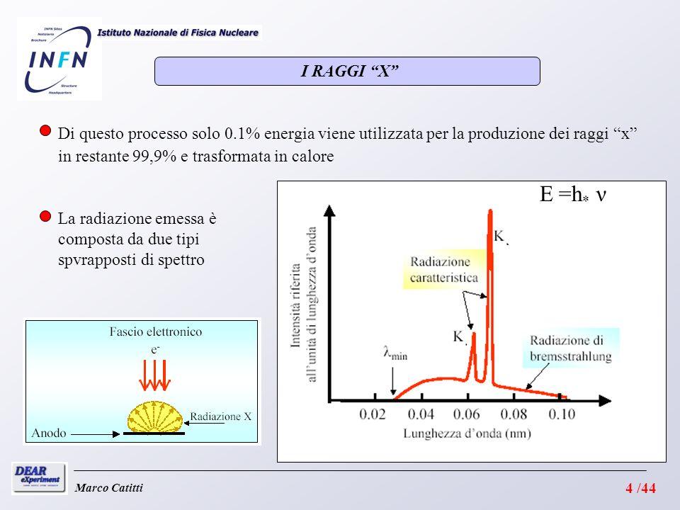 I RAGGI X Di questo processo solo 0.1% energia viene utilizzata per la produzione dei raggi x in restante 99,9% e trasformata in calore.