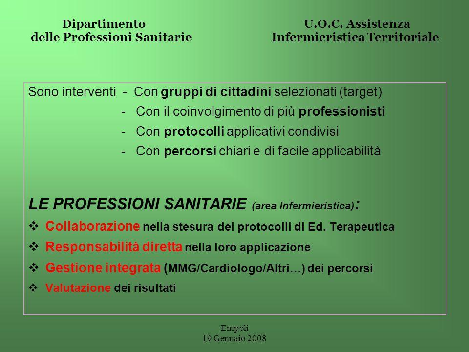 LE PROFESSIONI SANITARIE (area Infermieristica):