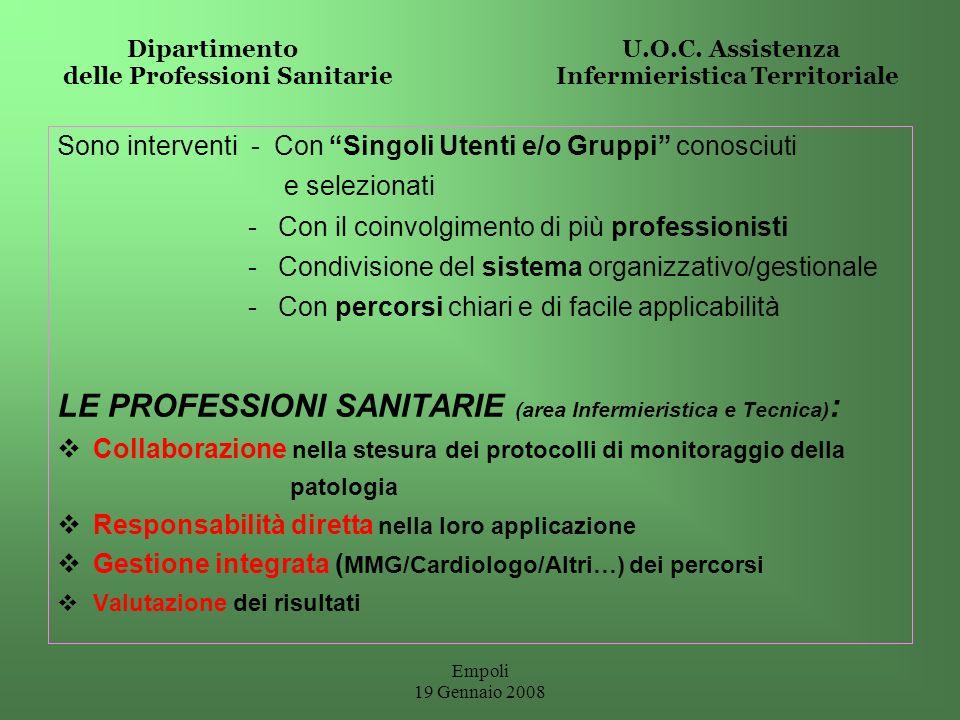 LE PROFESSIONI SANITARIE (area Infermieristica e Tecnica):