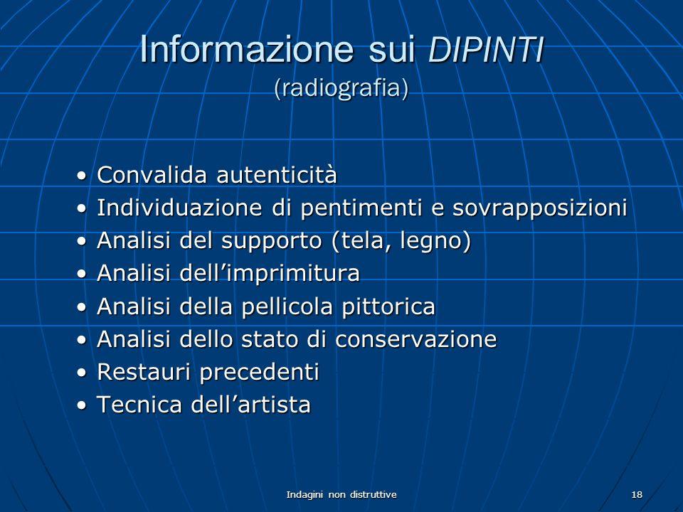 Informazione sui DIPINTI (radiografia)