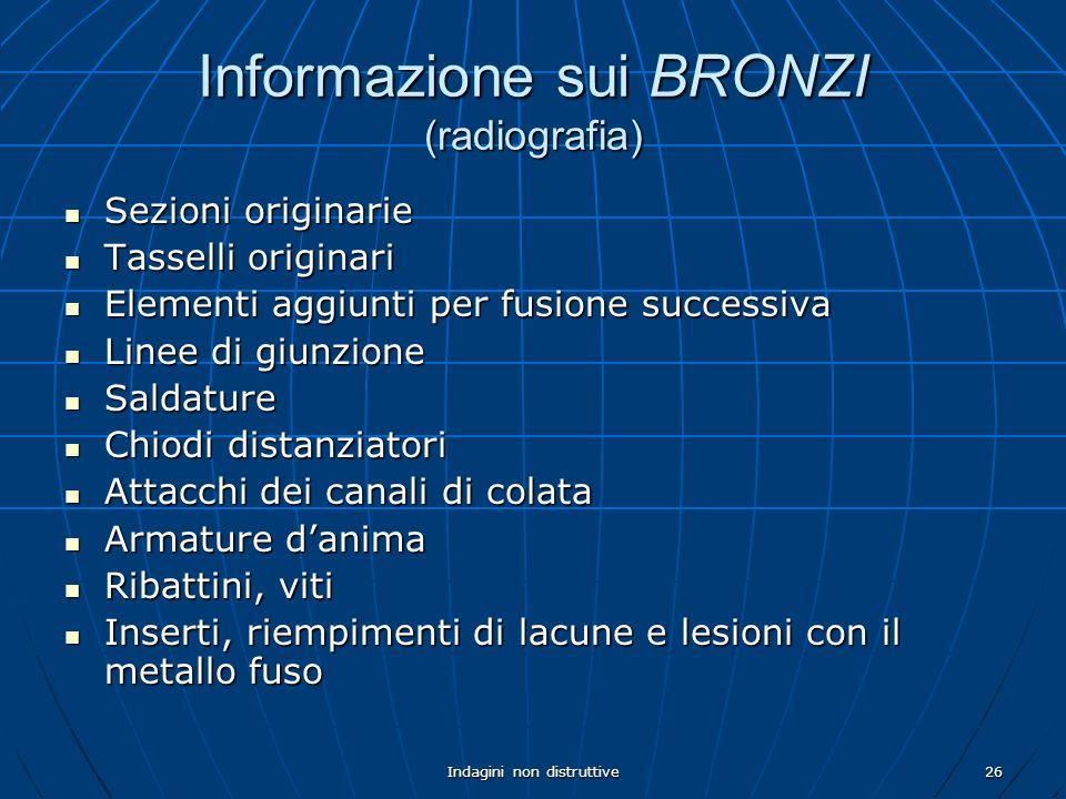 Informazione sui BRONZI (radiografia)
