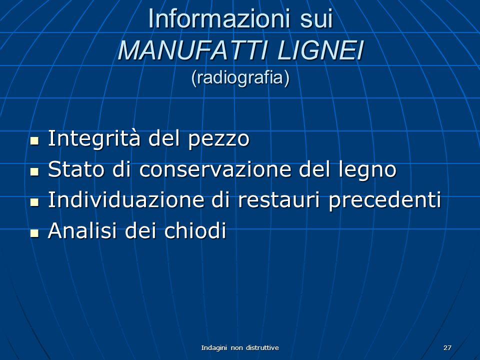 Informazioni sui MANUFATTI LIGNEI (radiografia)
